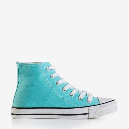 Antonella blue women's high-top sneakers - footwear
