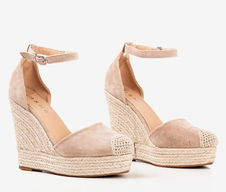 Beige espadrilles on wedges Miguelita - Footwear 1