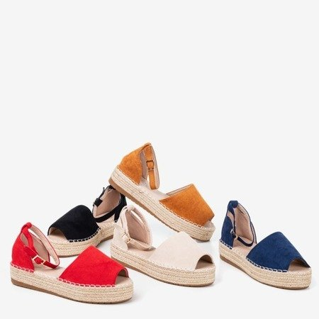 Beige espadrilles with a cut-out on the Narilina platform - Shoes 1
