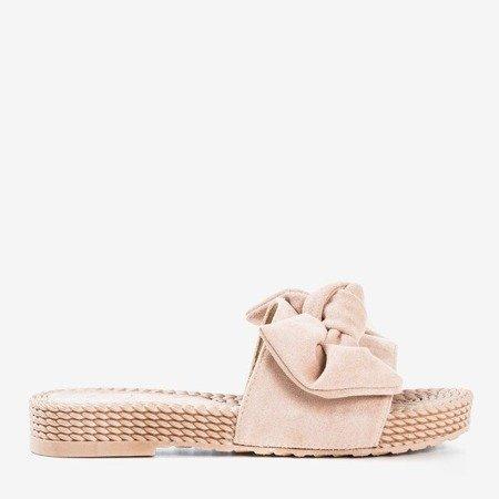 Beige flip-flops with a bow Sabella - Footwear 1