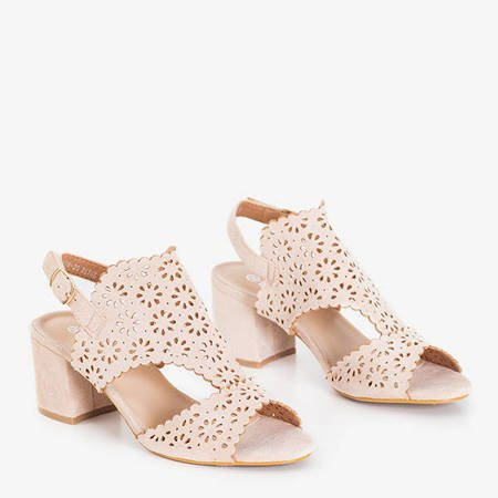 Beige sandals with an openwork Nord - Footwear