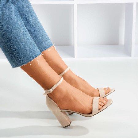 Beige women's sandals on a post Sweet Honey - Footwear 1