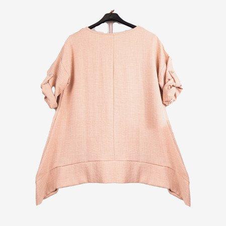 Beige women's tunic - Blouses 1