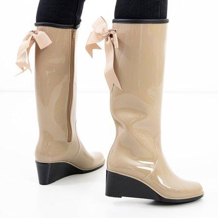 Beige women's wellies on the wedge Genofa - Footwear