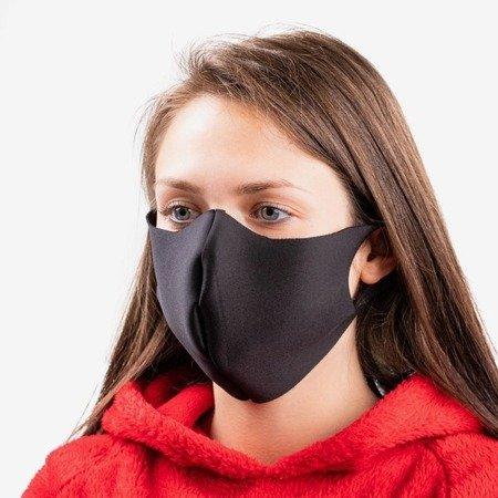Black 1-ply face mask - Masks