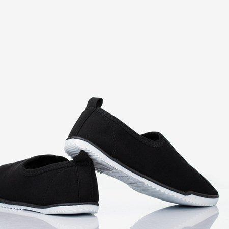 Black Maywood women's slip-on sneakers - Footwear 1