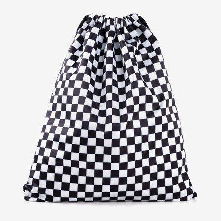 Black and white checkered sack backpack - Backpacks