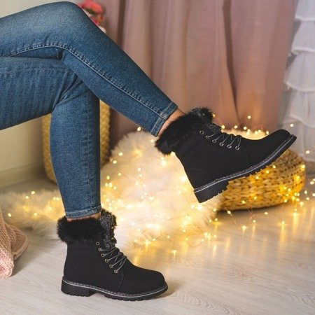Black insulated Shira boots - Footwear