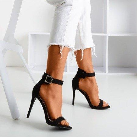 Black sandals on a higher heel Suella - Footwear 1