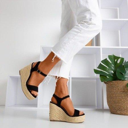 Black sandals on the wedge Idessa - Footwear 1