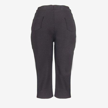 Black short leggings with a welt - Pants 1