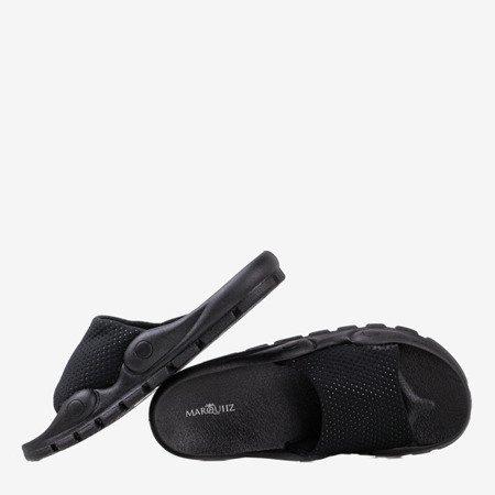 Black slippers with mesh Sensie - Footwear 1