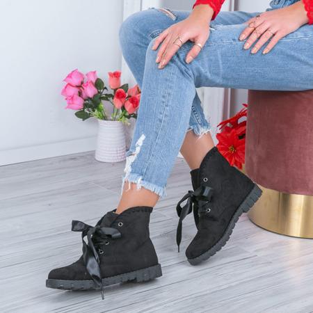 Black, suede Melanie footwear