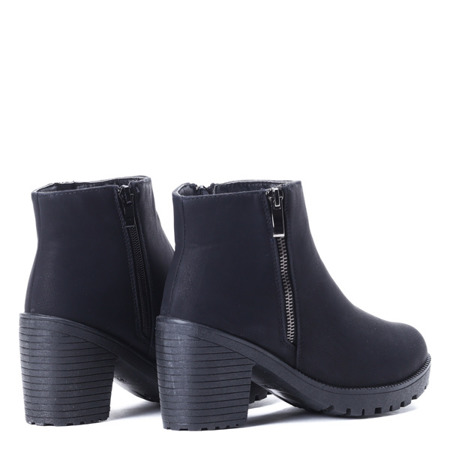Black suede ankle boots Amika - Shoes