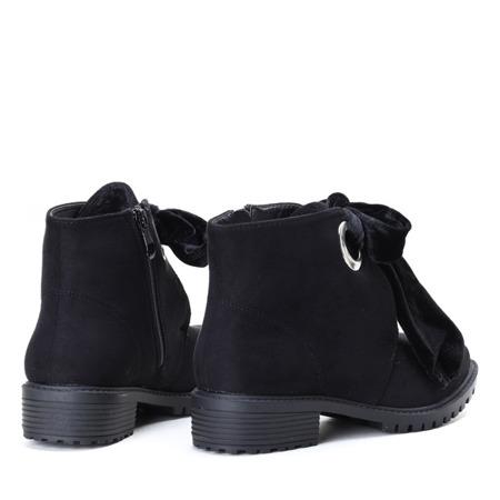 Black, suede boots Natalien - Footwear
