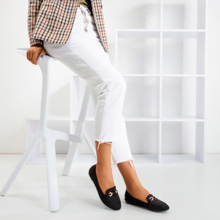 Black women's loafers Seraphine - Footwear 1