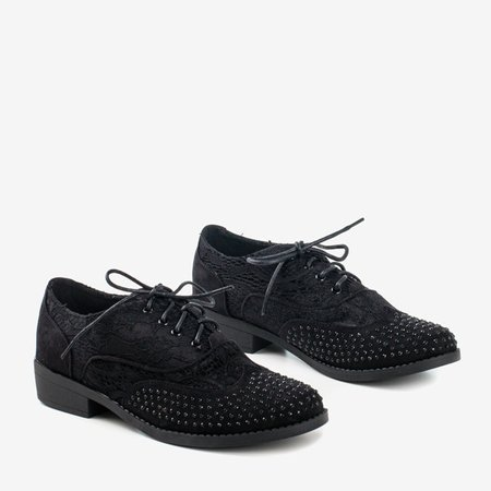 Black women's low-heels Bulles shoes - Footwear 1
