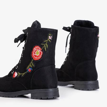 Black women's bags with Lunisa patches - Footwear