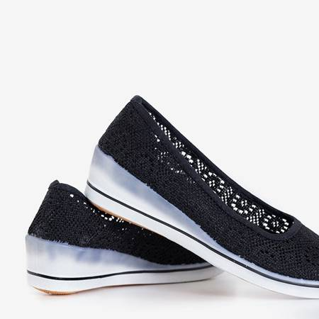 Black women's ballerinas on a low wedge Olimpia - Shoes