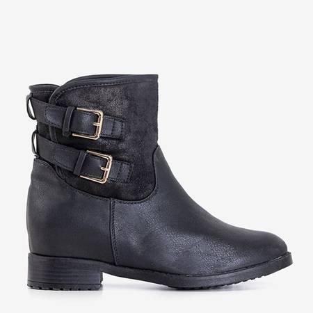 Black women's boots on an indoor wedge Krequis - Footwear