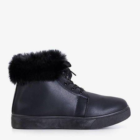 Black women's insulated Haifa sneakers - Footwear