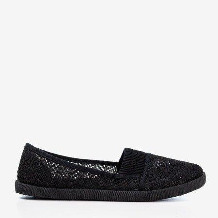 Black women's openwork slip - on Ticolisa - Footwear 1
