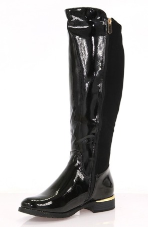 Black women's patent leather boots by Rajscia - Shoes
