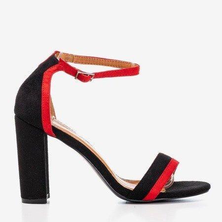 Black women's sandals on a higher post by Johanea - Footwear