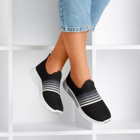 Black women's slip-on sport shoes - on Rainbow - Footwear 1