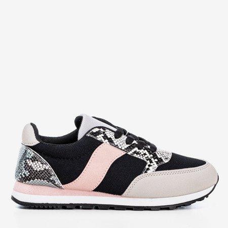 Black women's sports shoes a'la snake skin Kamalija - Footwear