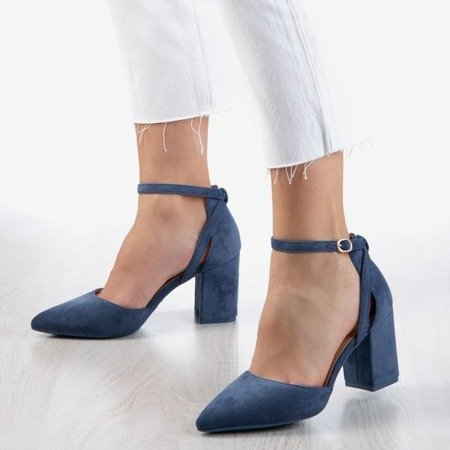 Blue pumps on a higher post Party Time - Footwear 1