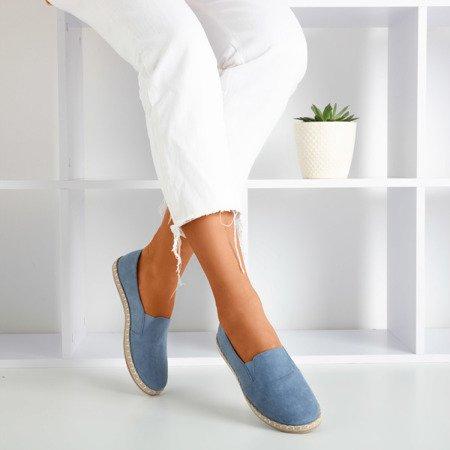 Blue women's espadrilles in eco-suede Melicija - Footwear 1