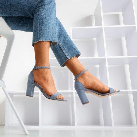 Blue women's sandals on a Sweet Honey post - Footwear 1
