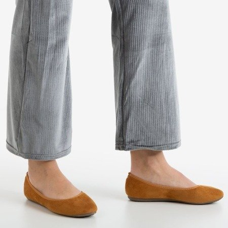 Brown Sochei women's ballerinas - Footwear 1