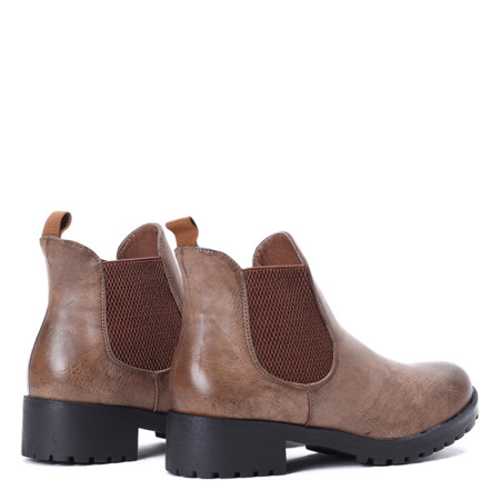 Brown boots with an elastic upper Winona - Footwear