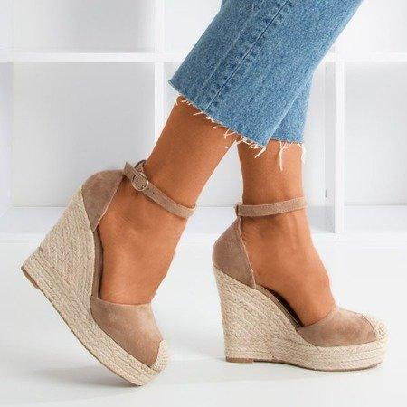 Brown espadrilles on a wedge Miguelita - Footwear