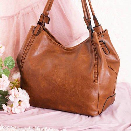 Brown large women's bag - Handbags