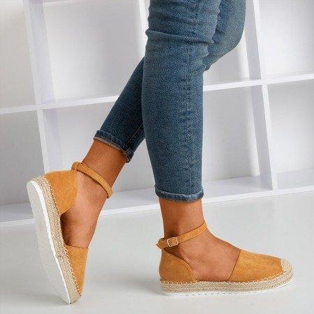 Brown women's espadrilles on the Citiva platform - Footwear 1