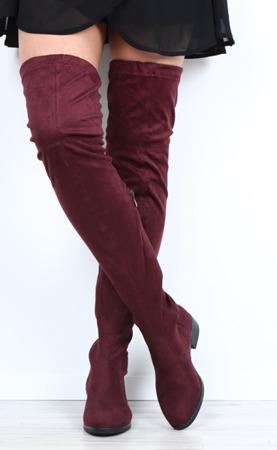 Burgundy suede boots Monastira - Footwear