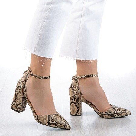 Cut out pumps on the post a'la snakeskin Party Time - Footwear