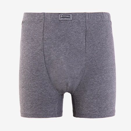 Dark gray men's cotton boxer shorts PLUS SIZE- Underwear