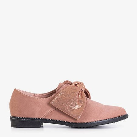 Dark pink flat-heel shoes with a bow Blasea - Shoes