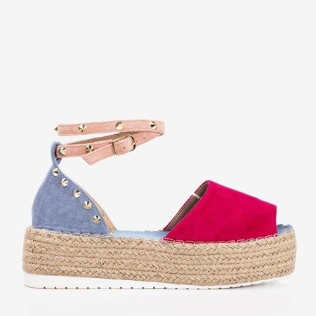 Fuchsia-blue women's sandals a'la espadrilles Irimida- Shoes 1