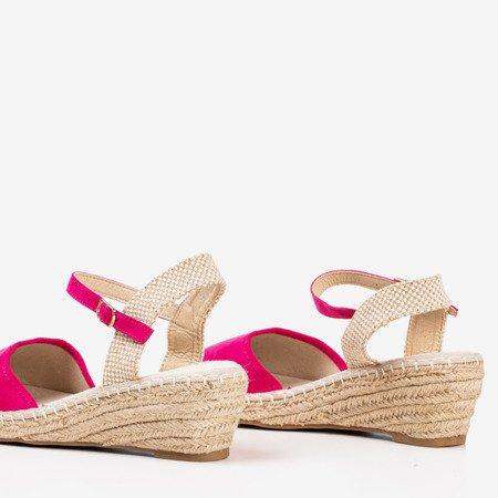 Fuchsia sandals on a wedge a'la espadrilles Jorcia - Footwear 1