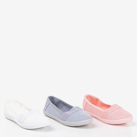 Girls' white openwork slip - on Lucida - Footwear