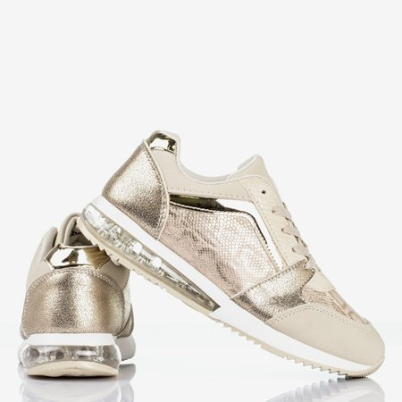 Gold sports shoes with a snake skin Obsession - Footwear 1
