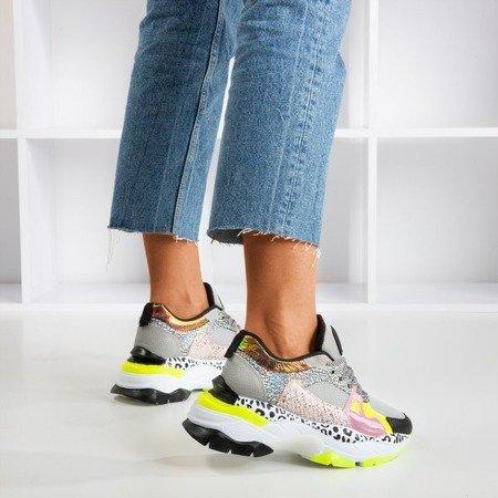 Gray Glare women's sports sneakers - Footwear 1