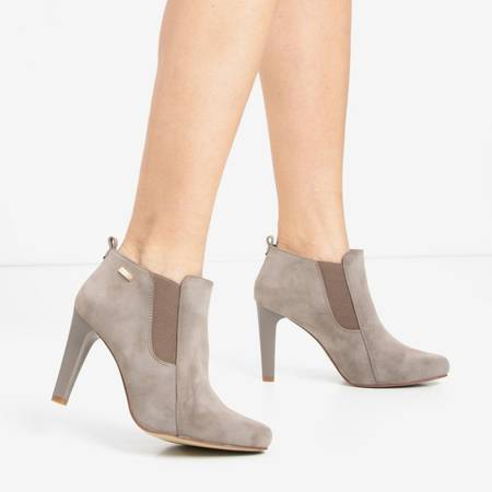 Gray and brown women's ankle boots Loretti - Footwear