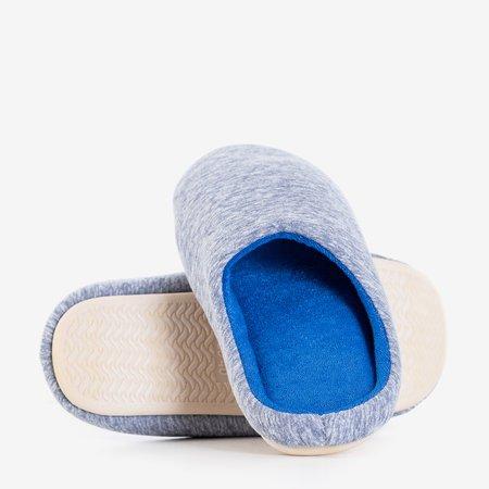 Gray and navy blue women's slippers Minewra - Footwear