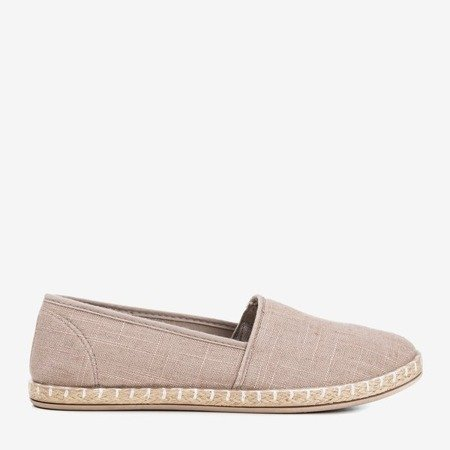Gray - brown fabric espadrilles Kolessa - Footwear 1